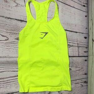 Gymshark Neon Yellow Racerback Tank Top Reflective